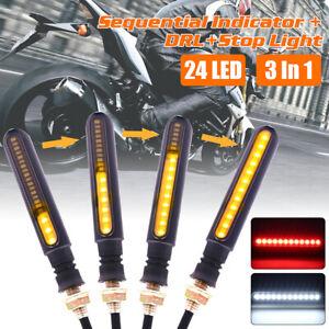 4PCS-24-LED-12V-Universel-signal-indicateur-Clignotant-Feux-Jaune-pour-Moto