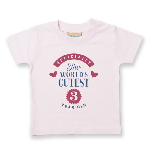 3rd Birthday Three Girl Boy Gift Tshirt Tee t Shirt Party Baby Toddler Present