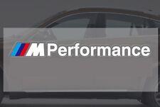 "362- BMW 1pc STICKER ""///M Performance"" White SPORTS LOGO DECAL M POWER M3 M5 M6"