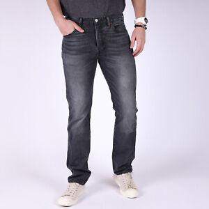 Levi-039-s-501-Original-Fit-Grau-Herren-Jeans-33-34-W33-L34