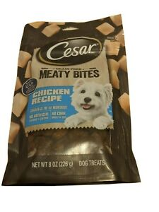 Cesar Grain-free Meaty Bites Chicken Recipe Dog Treats Resealable Made in USA!!!