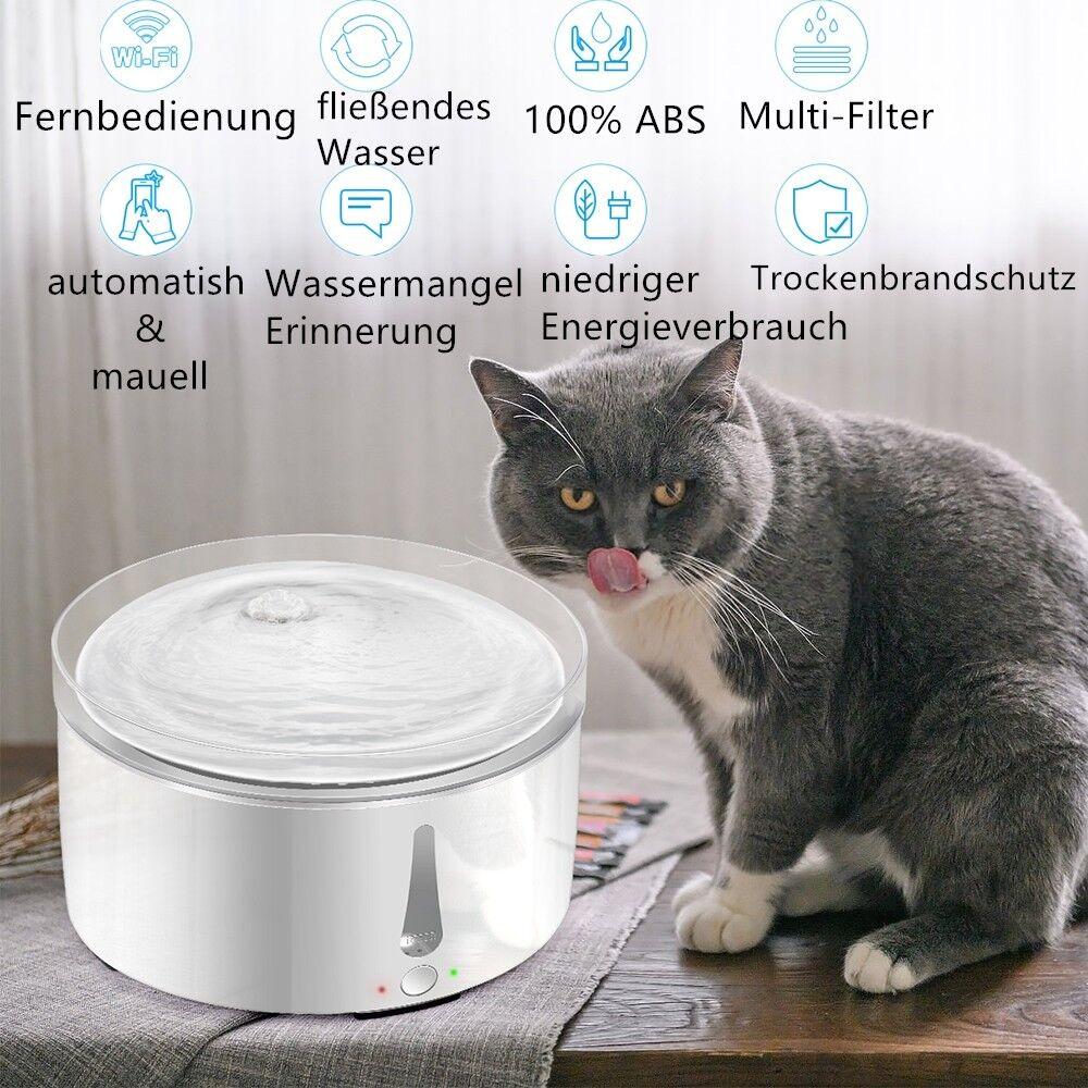 3l animale domestico automatico potabile Fontana multi-filtro acqua donatore mobile control