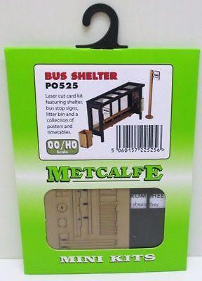 Metcalfe - Po525 - Mini Kit - Bus Shelter - Laser Cut Card Kit - (oo Gauge) New. Tieniti In Forma Per Tutto Il Tempo