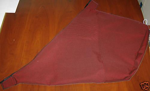Sunbrella Burgundy Jib bag-Size Large