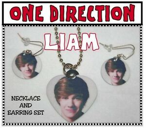 LIAM-PAYNE-034-ONE-DIRECTION-034-Band-Photo-Charm-Necklace-amp-Earring-Set-Great-Gift