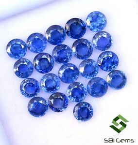 3-43-CTS-Certified-Natural-Blue-Sapphire-Round-Cut-4-mm-Lot-10-Pcs-Ceylon-Gems
