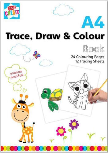 Trace y dibujar Libro Para Colorear Niños Niños A4 Tamaño