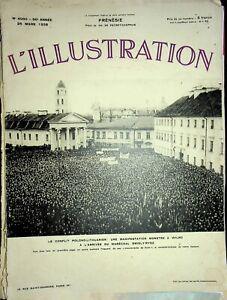 Vtg Original L'ILLUSTRATION French Magazine March 26 1938 Le Confit Polono