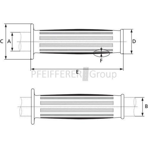 elastómeros 24,5-26 negro Magura pinzamiento referencia forma a