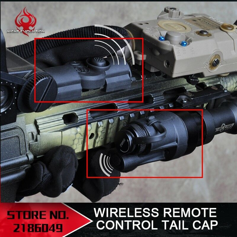 Night Evolution Wireless  Remote Control Tail Cap For M951 M952V M961 M971 Light  new exclusive high-end