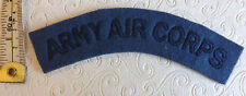 An Original Military Army Air Corps Cloth Shoulder Title Badge (2004)