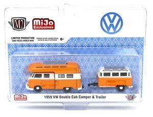 1959 VW Double Cab Camper bus tráiler *** m2 machines mijo hobby excl 1:64 nuevo