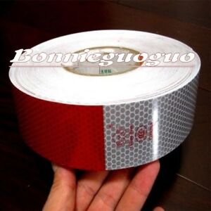 Truck Reflective Conspicuity Tape Wihte Red 10PCS Total 3M = 10' CCC = DOT C2