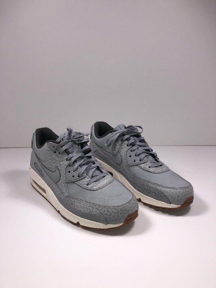 Nike Air Max 90 Premium Wolf Grey/Sail 443817-011 Wmn Sz 10
