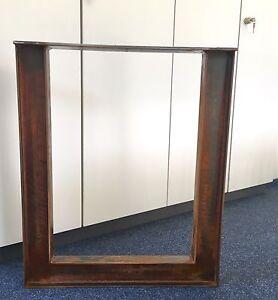 1 Stück Tischbein Stahl Design Tischkufen Stützfuss Tischgestell