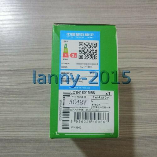 1PC Schneider contactor LC1E1801E5N= LC1N1801M5N 48V