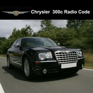 Details about Chrysler 300c Radio Codes Stereo Codes Pin Unlock Code Fast  Service