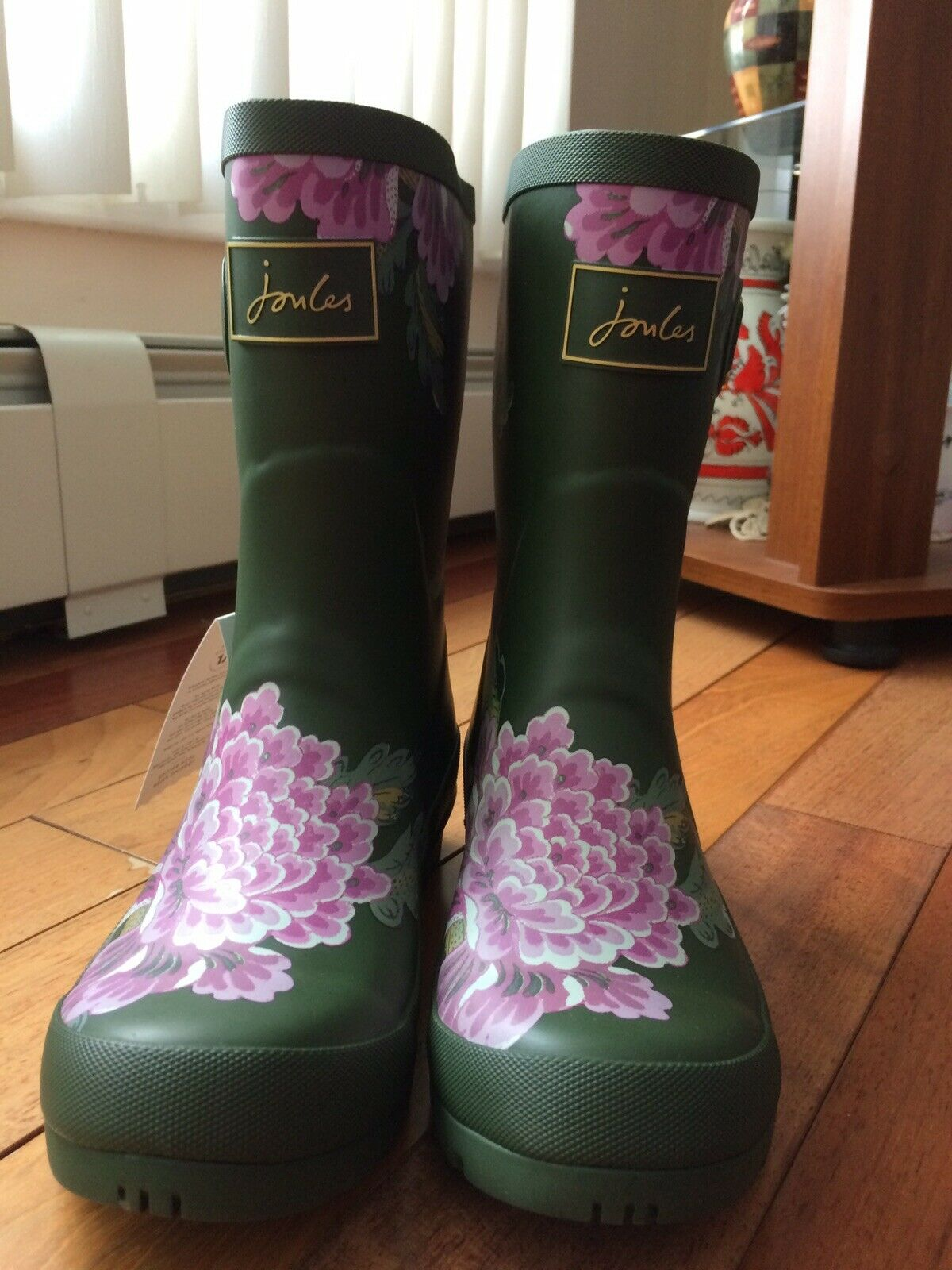 Joules Mujer Molly Welly Para lluvia botas verde Whitstable Floral 7 M US