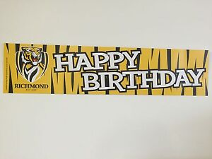 Details about Official AFL Richmond Tigers Happy Birthday Banner Poster