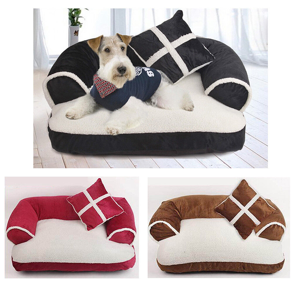 Dog Cat Sofa Bed Pet Sleeping Mat Pillow Kennel Nest Soft Cushion Größe M