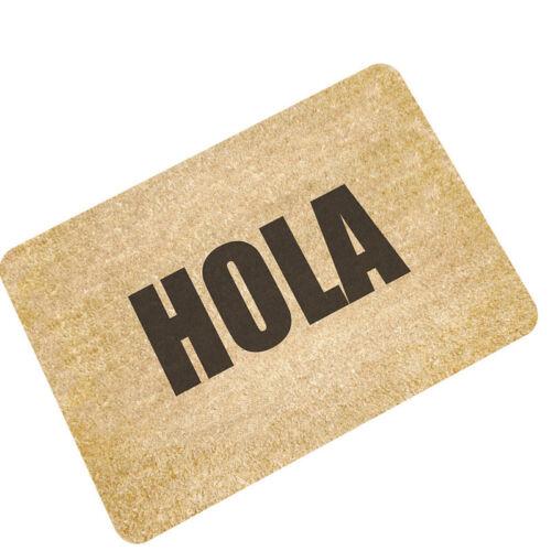 Funny Letter Welcome Home Entrance Floor Rug Non-slip Doormat Outdoor Mat Carpet