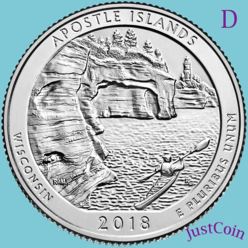 WISCONSIN 2018-D APOSTLE ISLANDS NATIONAL LAKESHORE UNCIRCULATED QUARTER