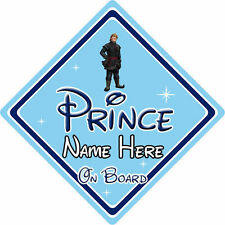 Personalised Disney Prince On Board Car Sign – Baby On Board – Frozen Kristoff