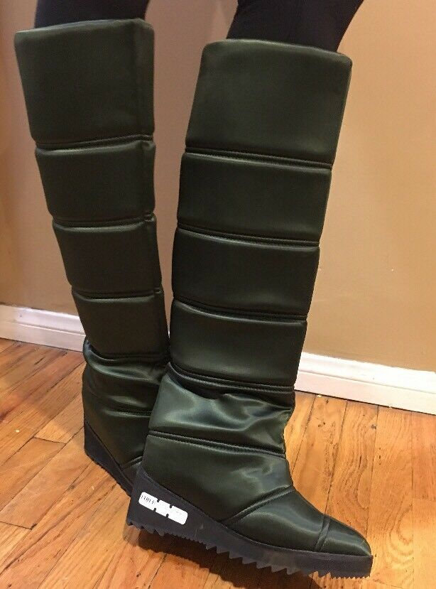 Jeffrey Campbell Squall Quilted Boots In In In Green size 8 27cb3f