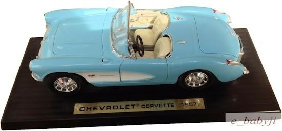 1957 Diecast CarSpecial Edition Aqua Chevy Corvette Congreenible 1 18 18 18 44ab2d