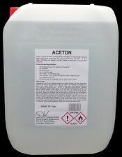 ACETON 10 Liter rein 99,5% Verdünner Reiniger Entfetter Lösungmittel 10L Azeton