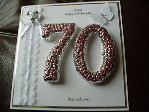 Image Is Loading Handmade Personalised Boxed 70th Birthday Card