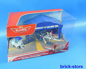 Mattel-Disney-Planes-Giudice-Juge-Juez-Davis-Aeroplano-Hangar-Set-Regalo