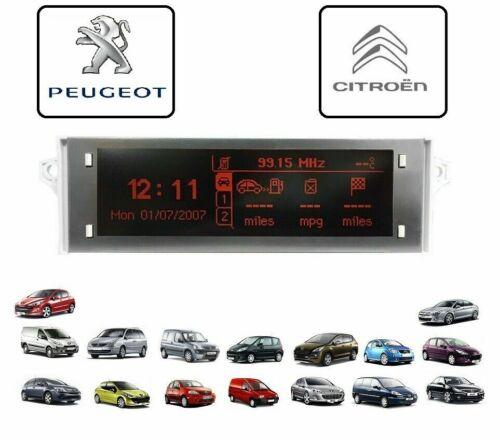 Ecran Afficheur  LCD PEUGEOT 207  2006-/> 3008 2009 /> 3007 2005-/>