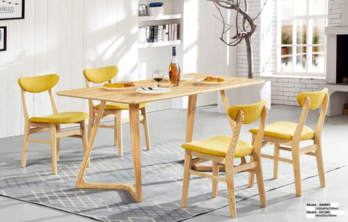 Designer 6x Chairs Handmade Chair Set Dining Furniture Seating Room Upholstered Wood
