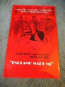 ENGLAND-MADE-ME-1973-PETER-FINCH-ORIGINAL-PRESSBOOK