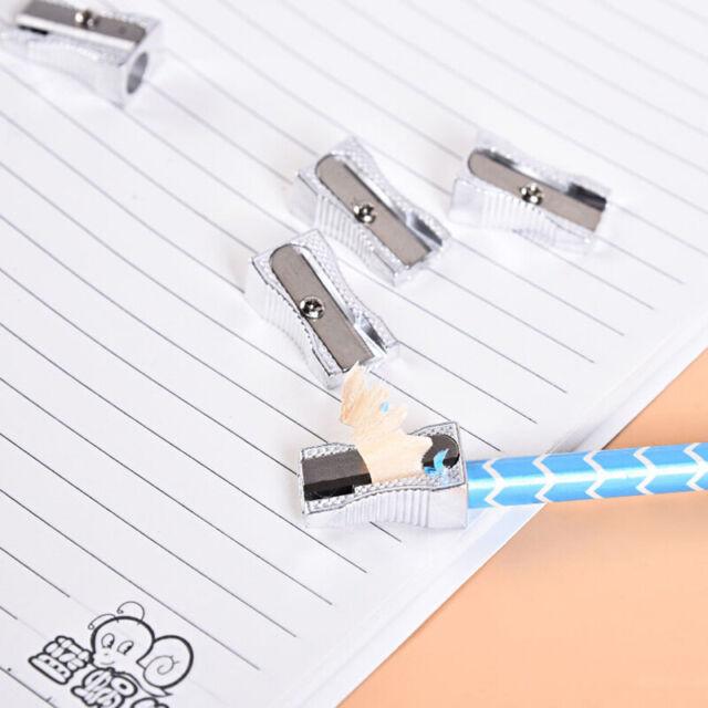 Pencil Sharpener Bevelled Practical Stationery Single Hole Aluminum Alloy JF