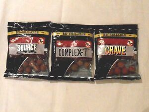 Dynamite-Baits-26mm-Boilies-or-Hookbait-Dips-Crave-Source-Complex-T-Hot-Fish