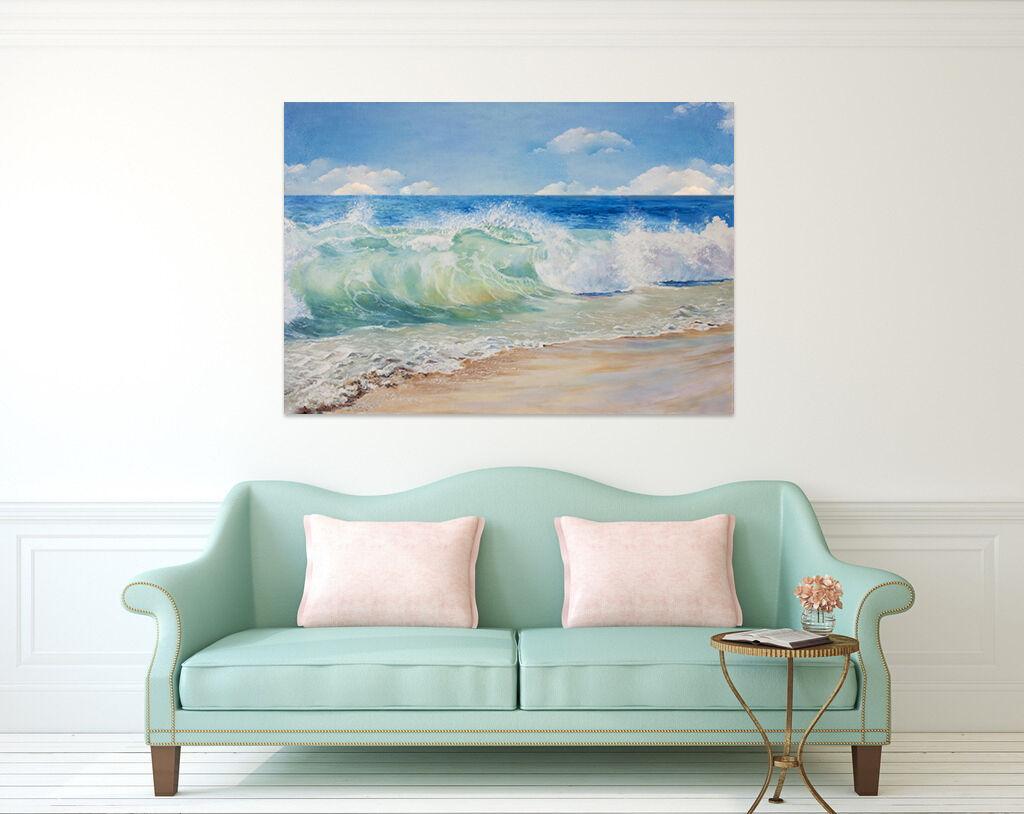 3D Wellen, Strand 522 Fototapeten Wandbild BildTapete Familie AJSTORE DE