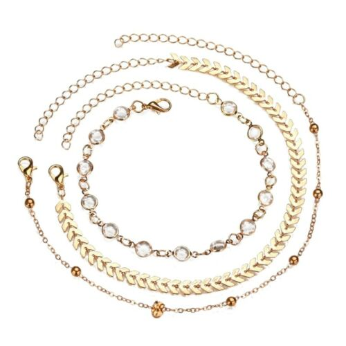 Women Fashion Style Simple Multicouche Couche Perles Link Chaîne Bracelet érogène