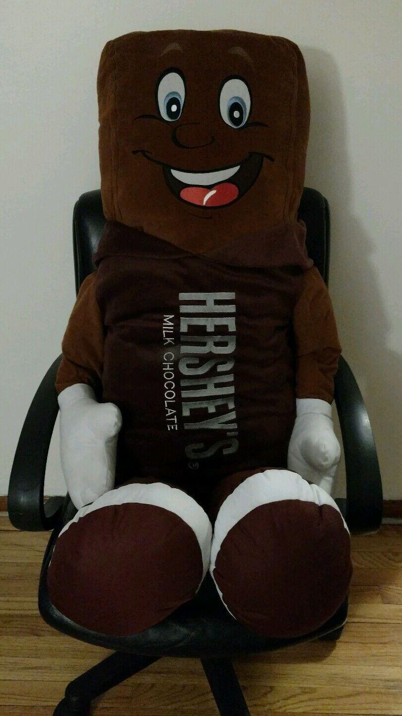 Huge Hersheys Chocolate Bar Big Hershey Park Over 4 feet tall plush doll pillow