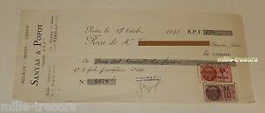 RECU-de-1938-SANYAS-amp-POPOT-Meubles-SYP-commande-porte-parapluies-Timbres