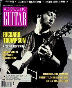 Acoustic Guitar Magazine November December 1993 Richard Thompson m558