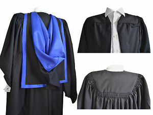 Fluted-Graduation-Gown-And-Full-Hood-Set-University-Bachelor-Academic-Robe