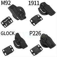 Portable Right Waist Paddle Belt Holster Accessories For M92 1911 Glock P226 Es