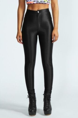 WOMENS//LADIES AMERICAN APPAREL STYLE SHINY DISCO TROUSER  PANTS SIZE 6/_14