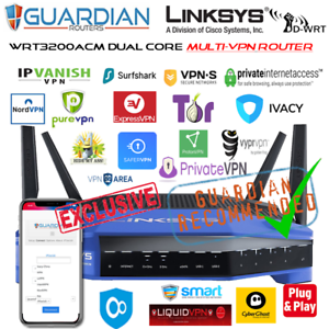 Linksys-WRT3200ACM-MULTI-VPN-Router-30-VPN-providers-Worldwide-Guardian-App