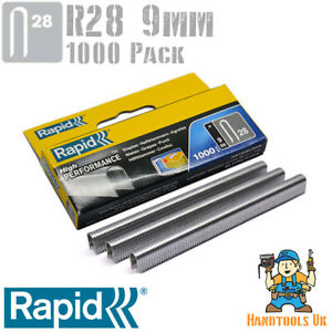 Rapid R28 9mm Cable Staples 1000 Box - For Rapid R28, Arrow T18, Rapesco CT45