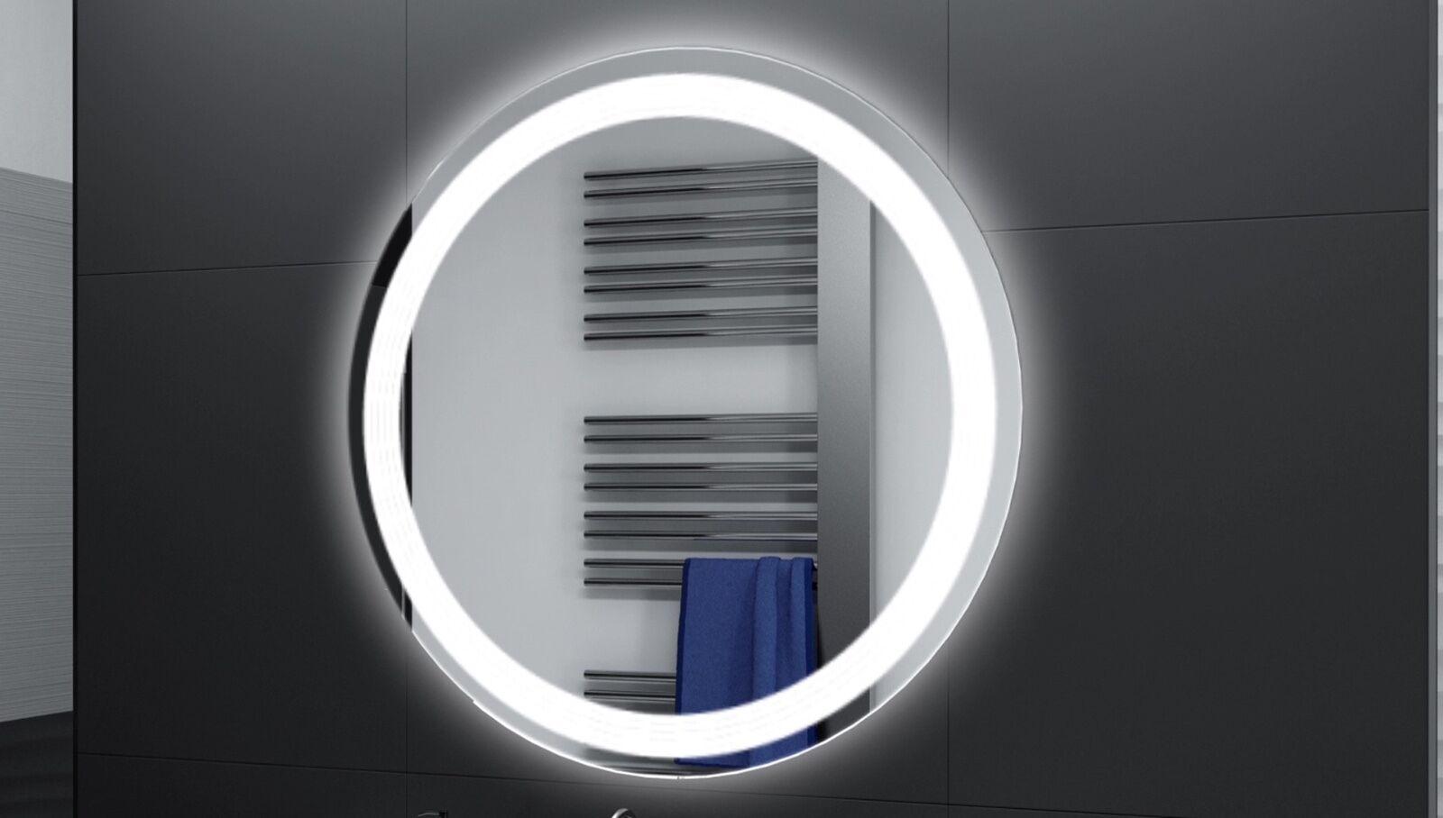 Badspiegel Rund m LED Beleuchtung Badezimmerspiegel Bad Spiegel Wandspiegel DR21