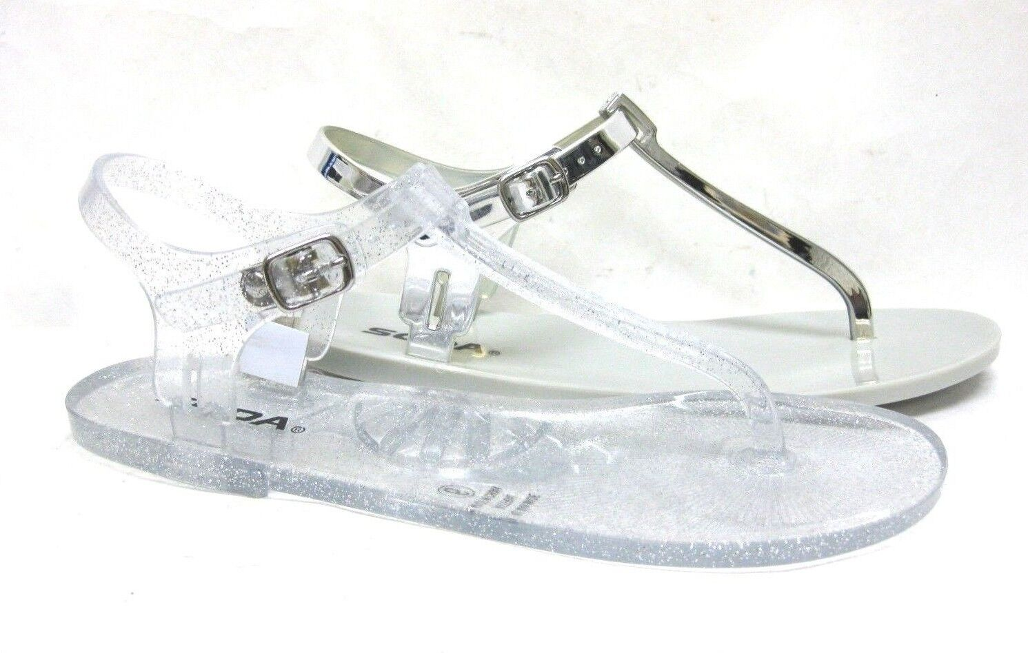 NEW WOMEN'S JELLY BUCKLE THONG SLINGBACK FLAT BUCKLE JELLY SANDALS SHOES 8b815d