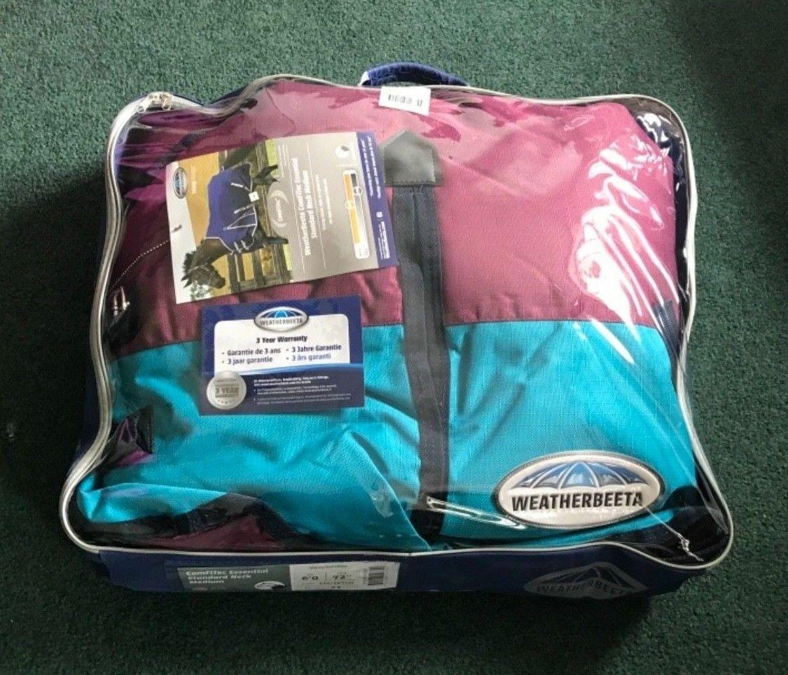 72  Weatherbeeta Waterproof Turnout Blanket 1200D 220g Medium Weight Shiraz Teal